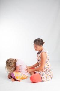 Ouder kind yoga massage