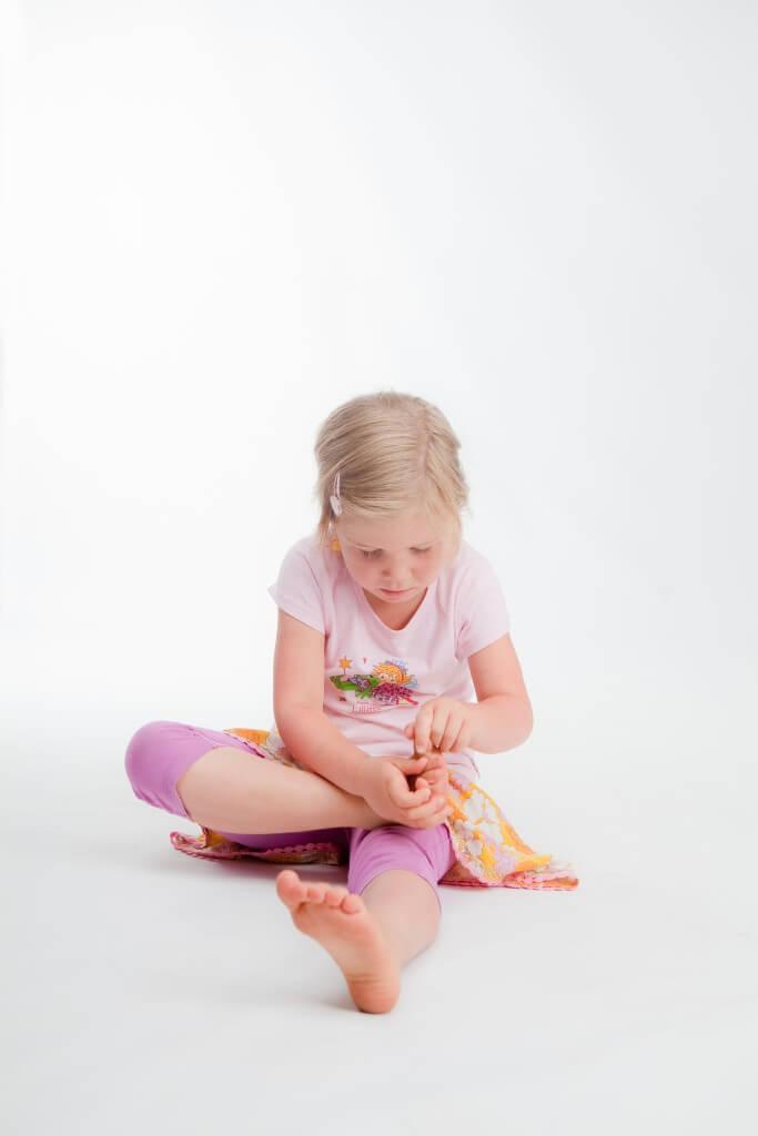Yoga voor kinderen - voetmassage
